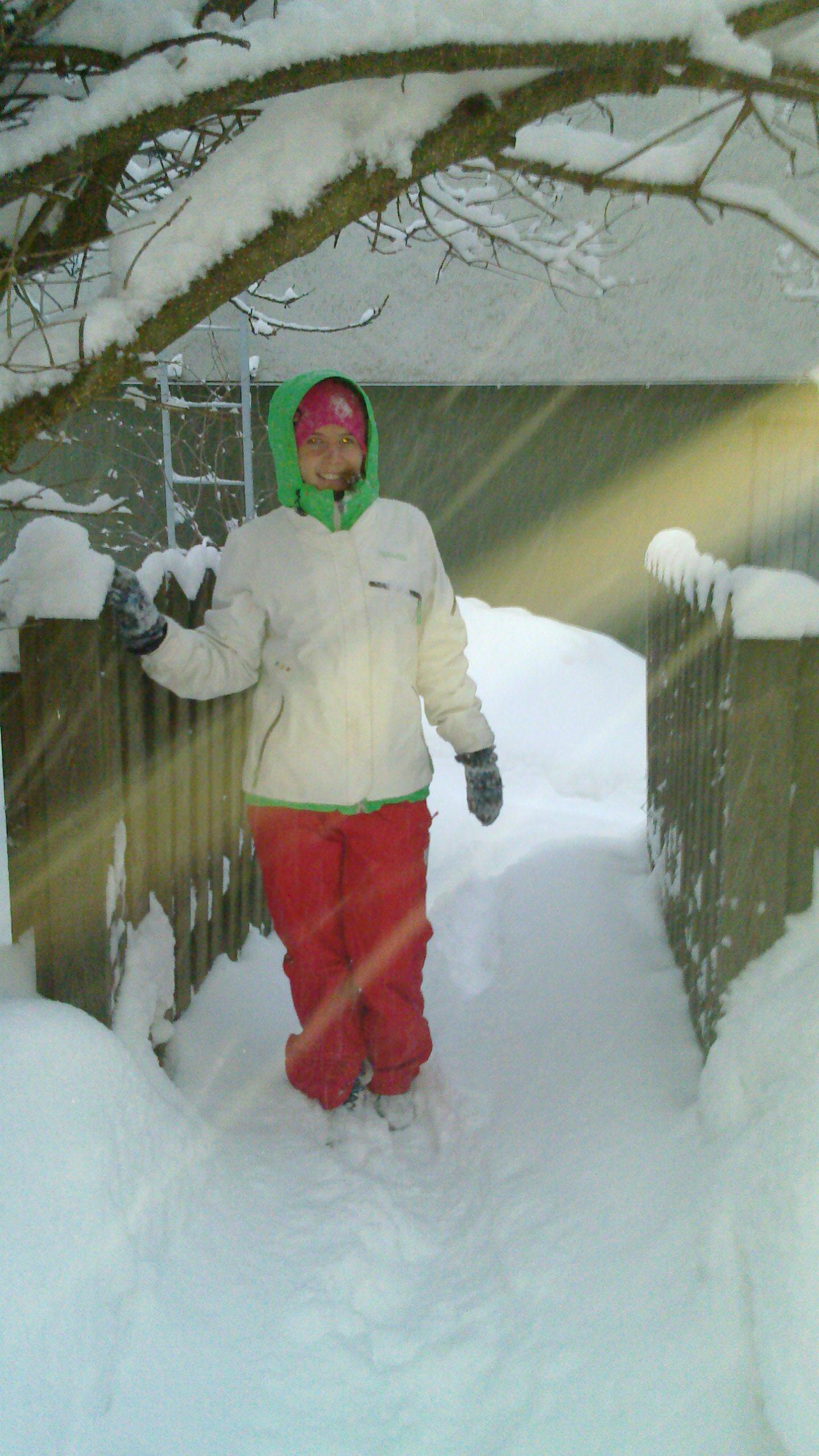 En snowboard-åkares klädregler i kyla