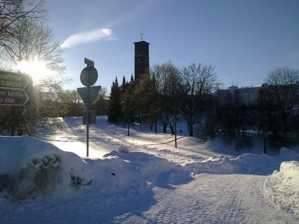 Pauluskyrkan i bakgrunden