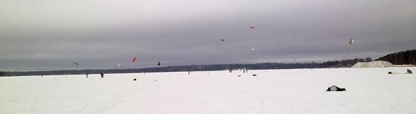 Snowkiting i Munksnäs
