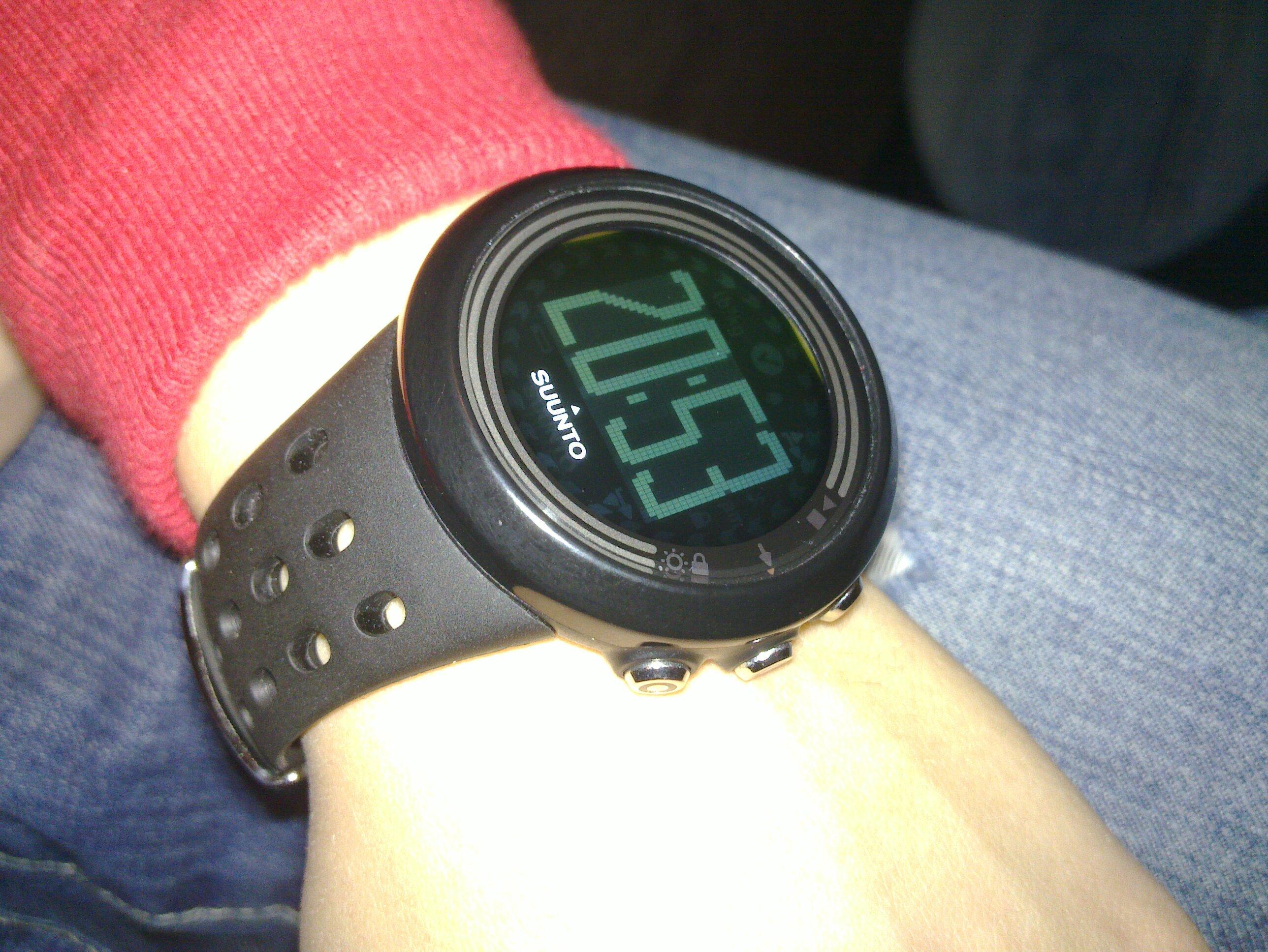 Träning med nya pulsklockan