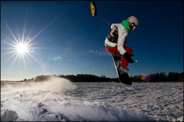 Snowkiting Otaniemi