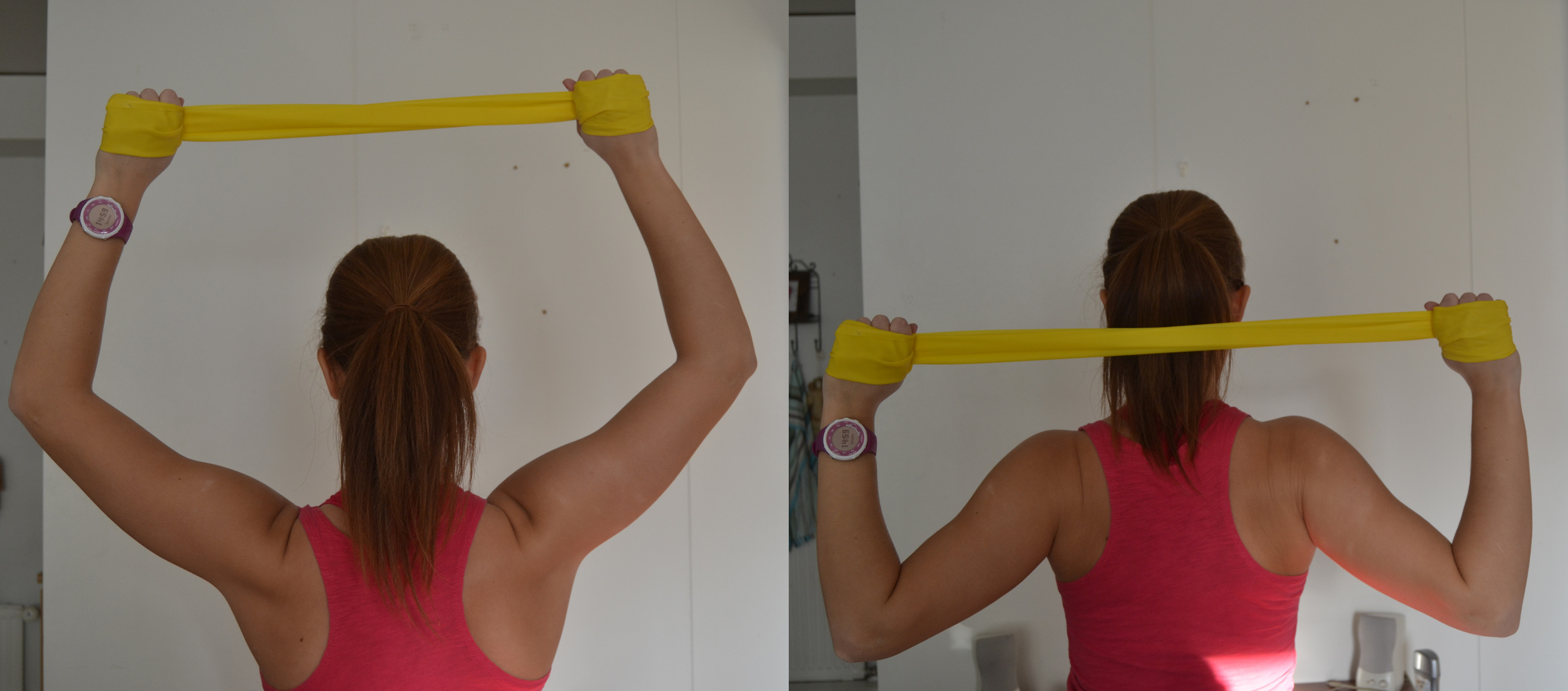 ont i nacken efter träning