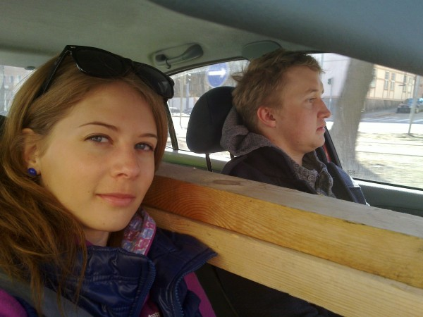 Plankor i bilen