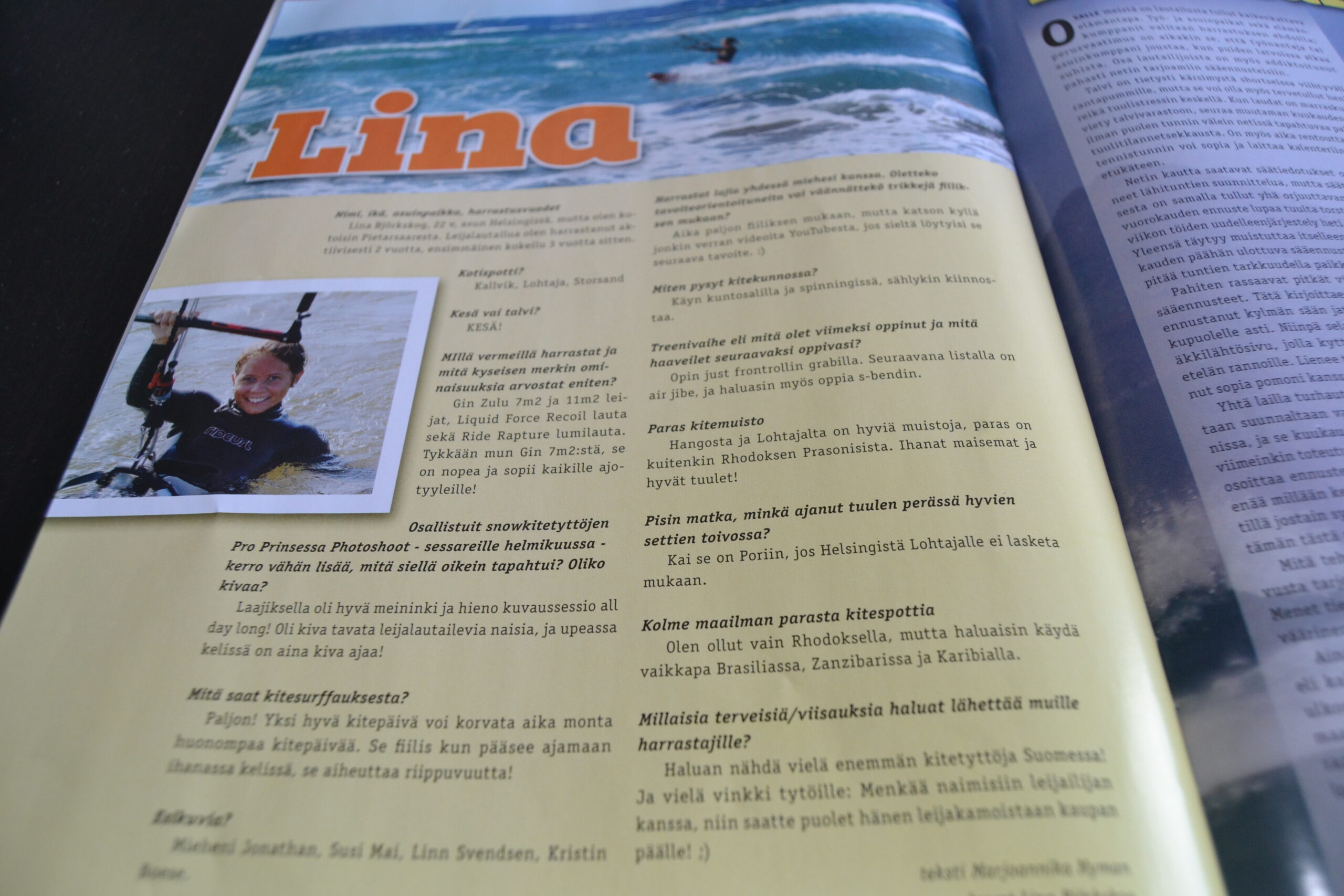 Intervju i Kite & Surf