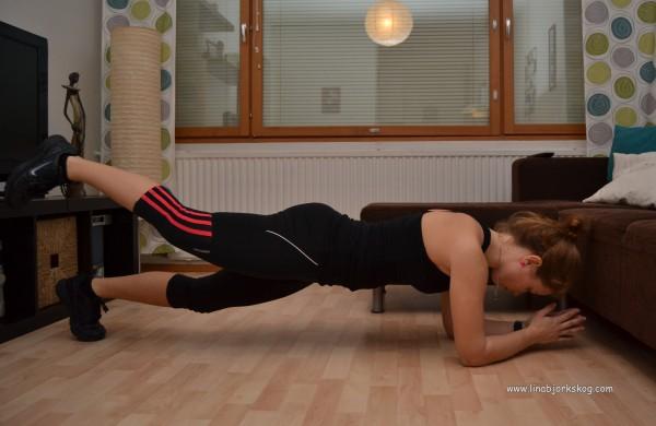 Plankan med benlyft