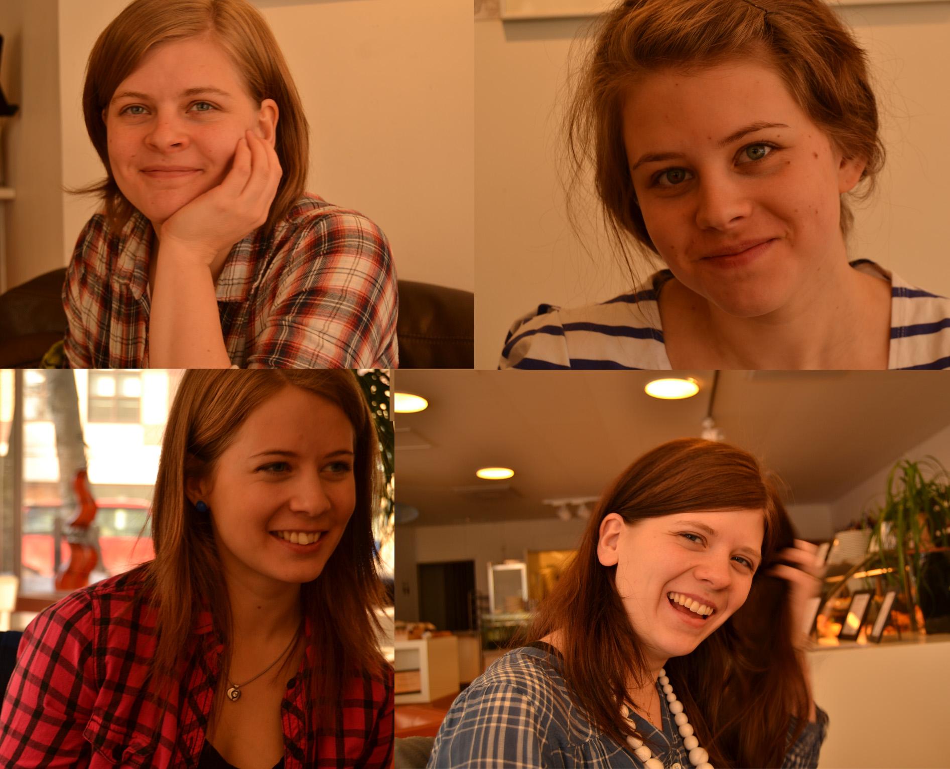 Systrar på café