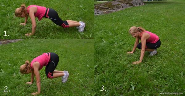 uthopp sida till sida träna rumpa och mage