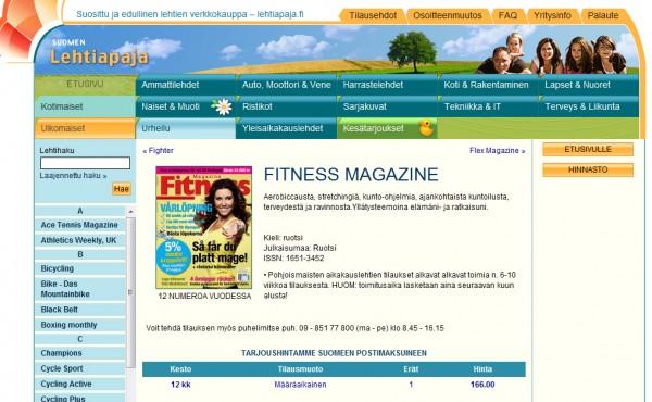 Prenumerera på fitness magazine