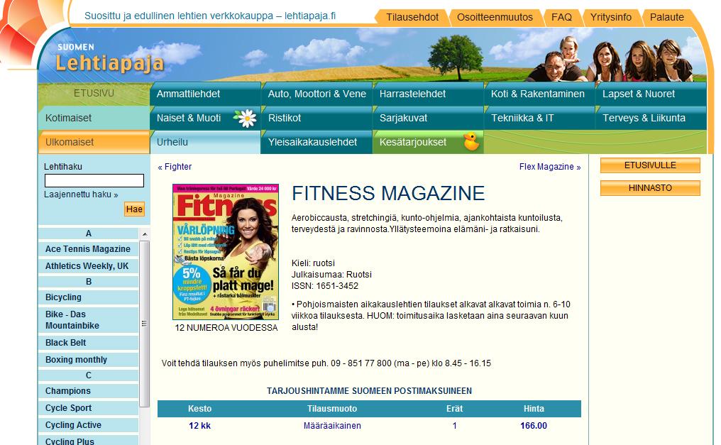 Prenumerera på träningstidning