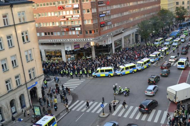 Demonstration på Kungsholmen