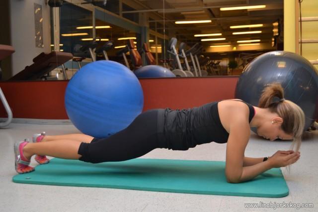 plankan - träning av inre magmuskler