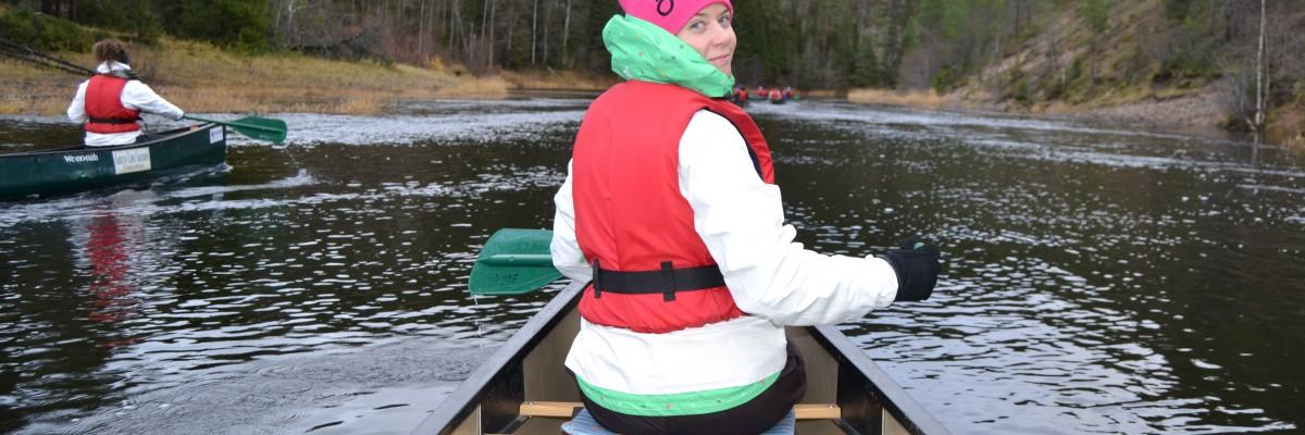 Vandring och paddling i Ruka