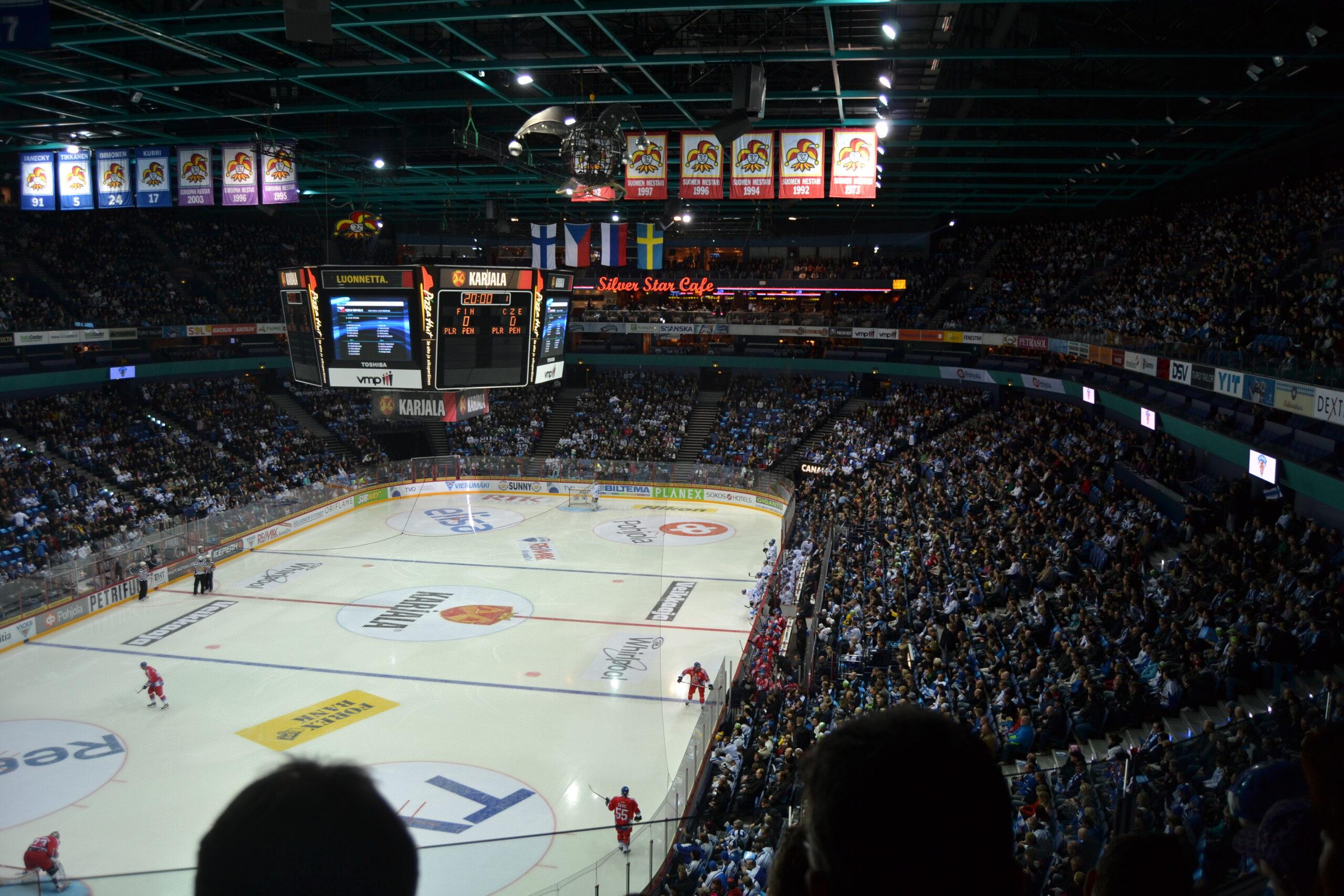 Finland vs. Tjeckien i Hartwall Arena
