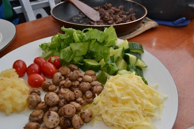 Tortillas fyllning