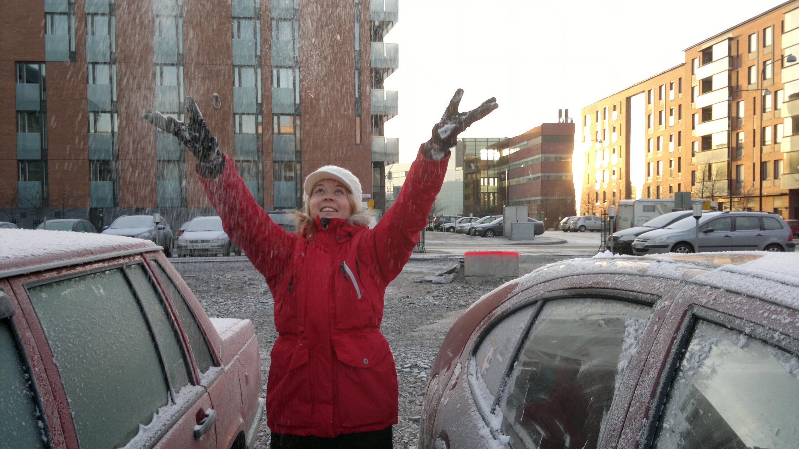 Årets första snö och årets första promenad