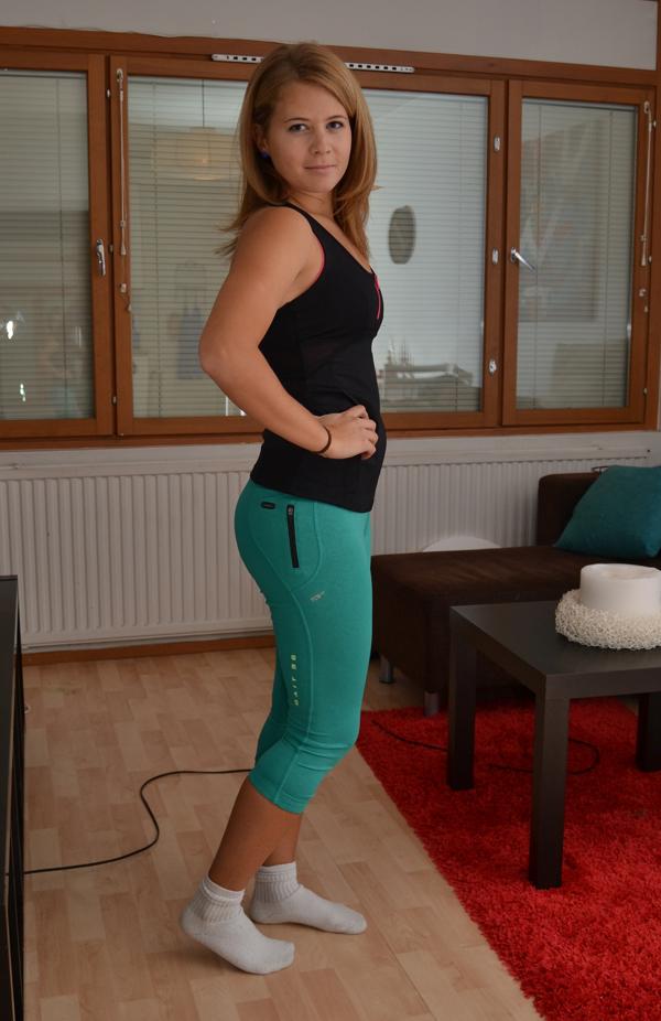 Shoppping av träningskläder på slutrean