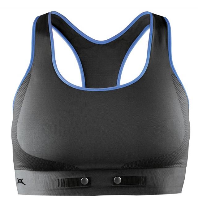 NuMetrex sports BH:n har ett inbyggd pulsbälte, så du behöver inte det vanliga pulsbältet. Dock fungerar den bara med Polar-klockor.