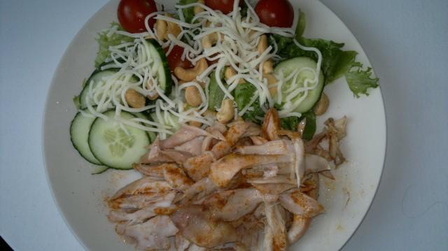 Kyckling med sallad