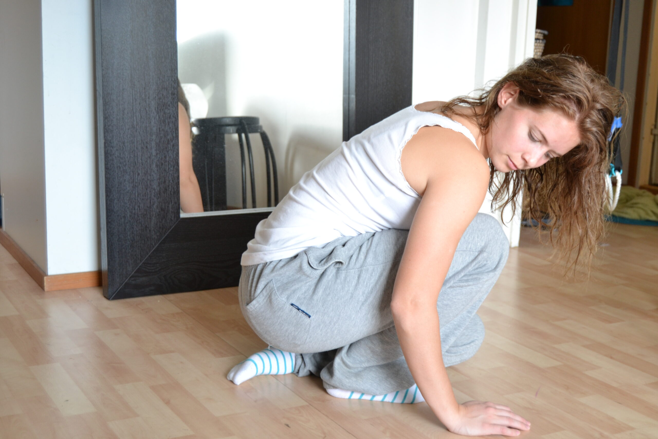 Stretchning av djupa vadmuskeln soleus