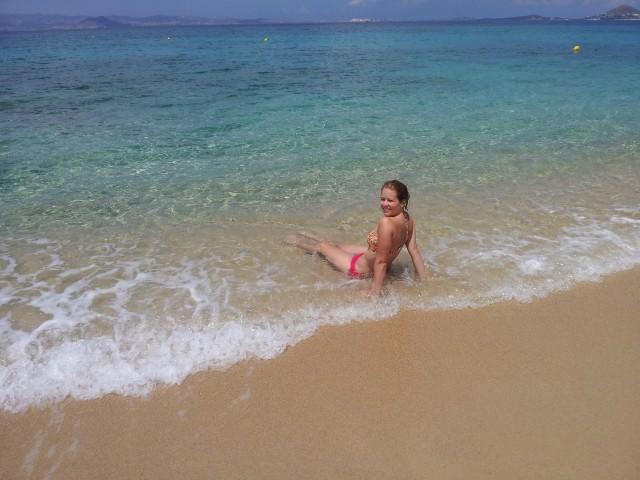 På stranden i Naxos