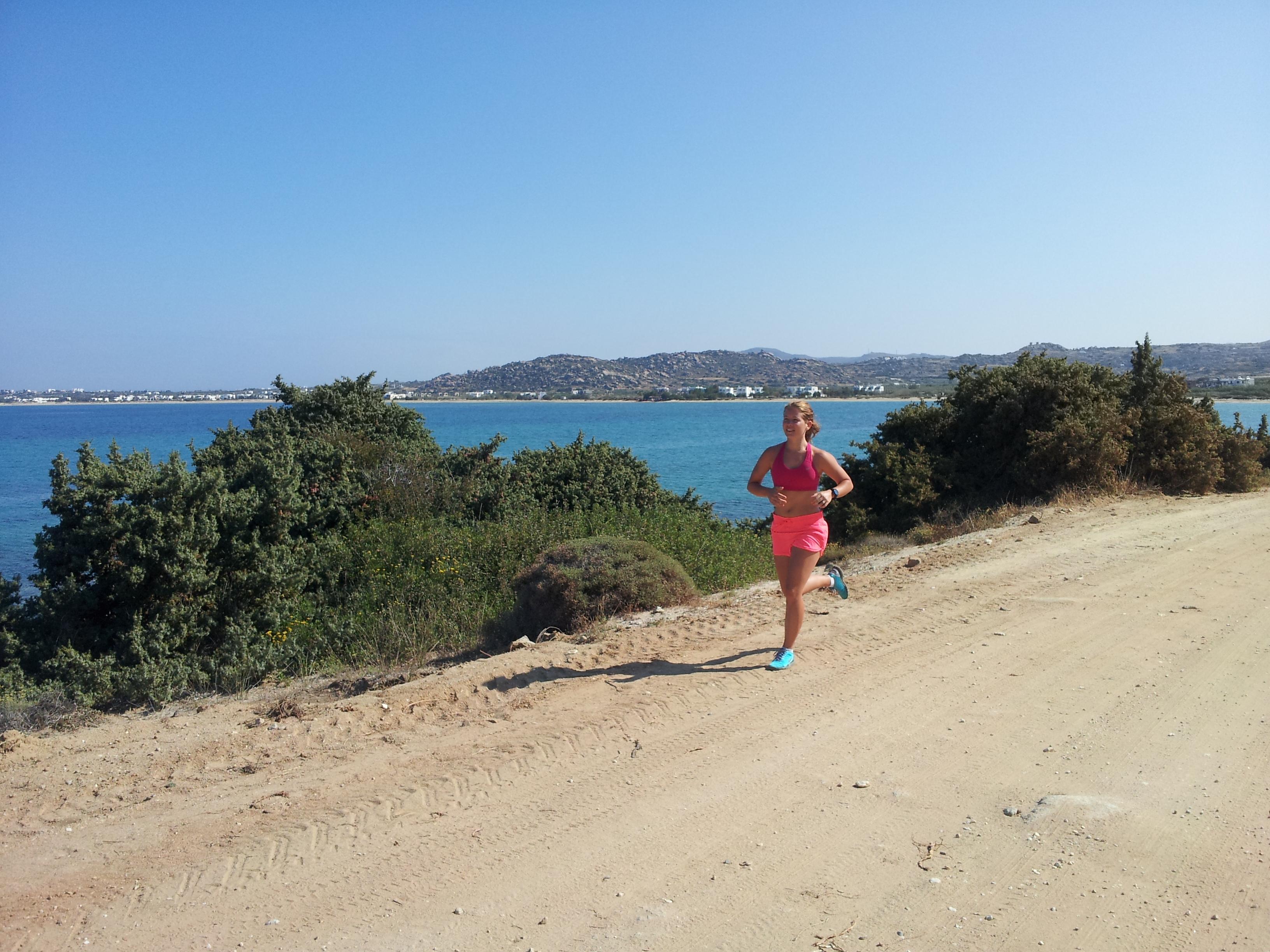 Löpning Naxos