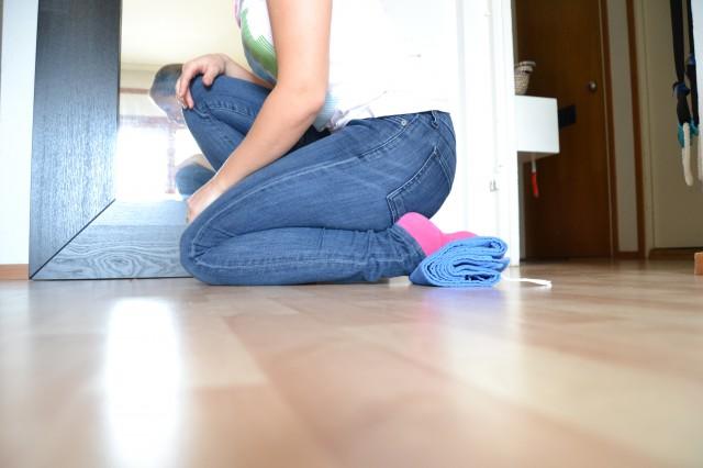 Ont i smalbenet stretchning och träning