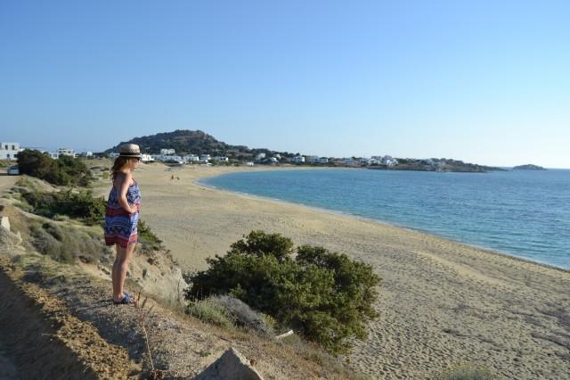 Vår strand- Orkos beach i Mikri Vigla, nästan som privatstrand