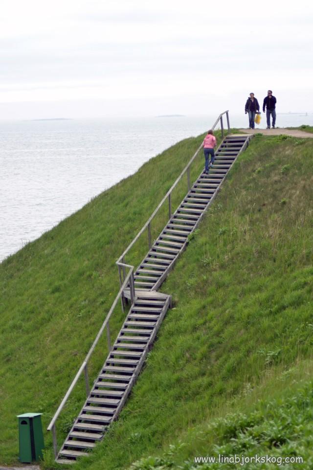 Trappträning i den perfekta trappan med den bästa utsikten