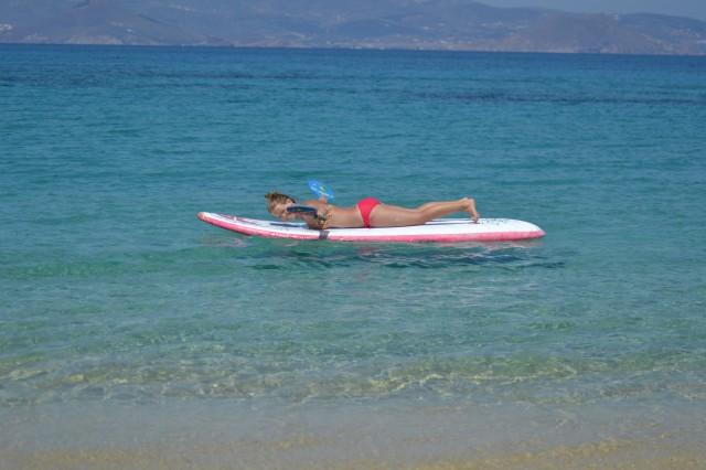 Träning surfing och simning