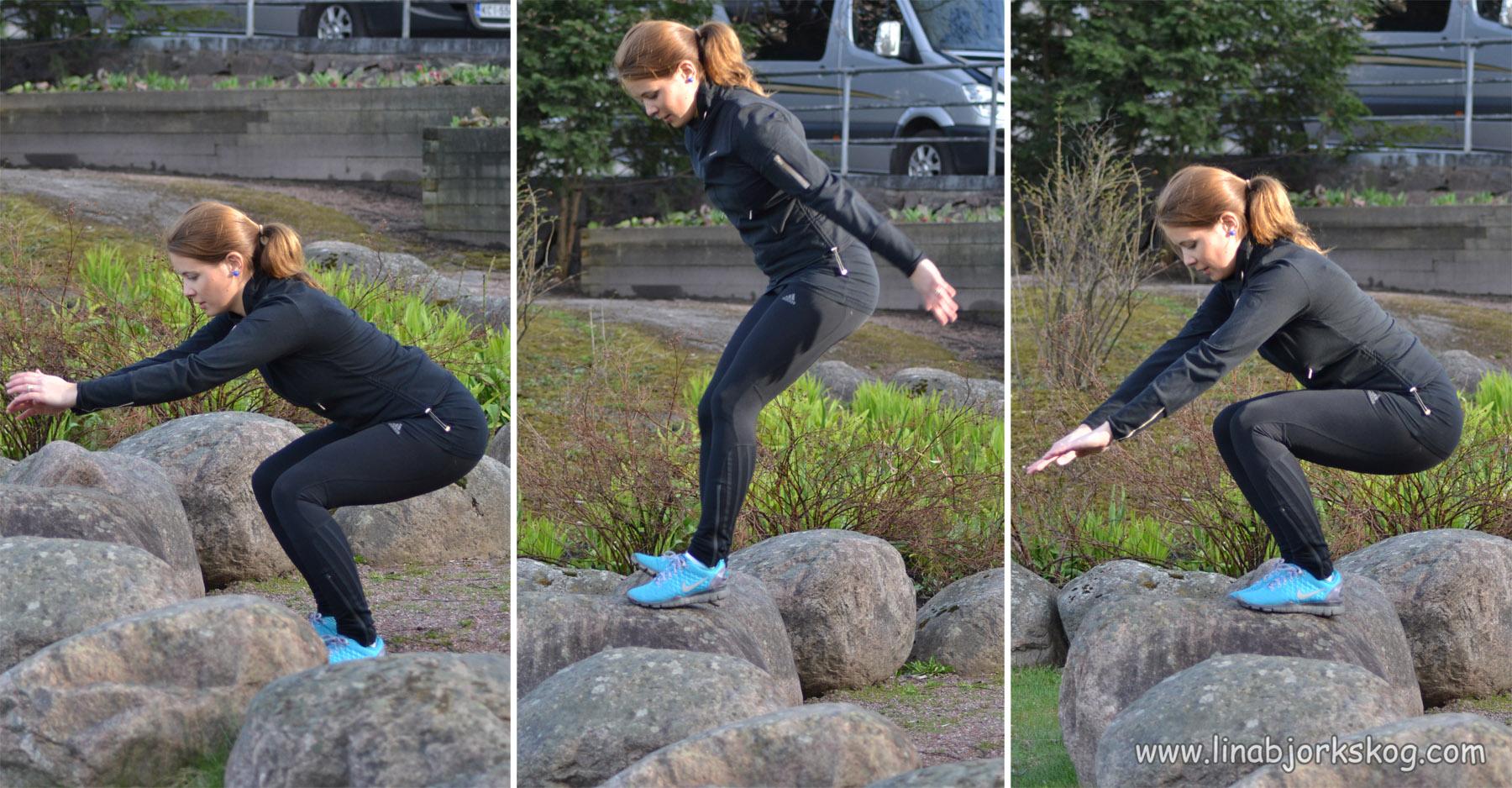 Upphopp – träna benen utomhus utan redskap