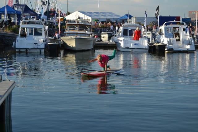 Träning på stand up paddleboard SUP