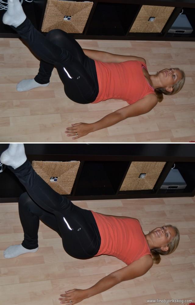 Höftlyft på ett ben hemmaträning för ben