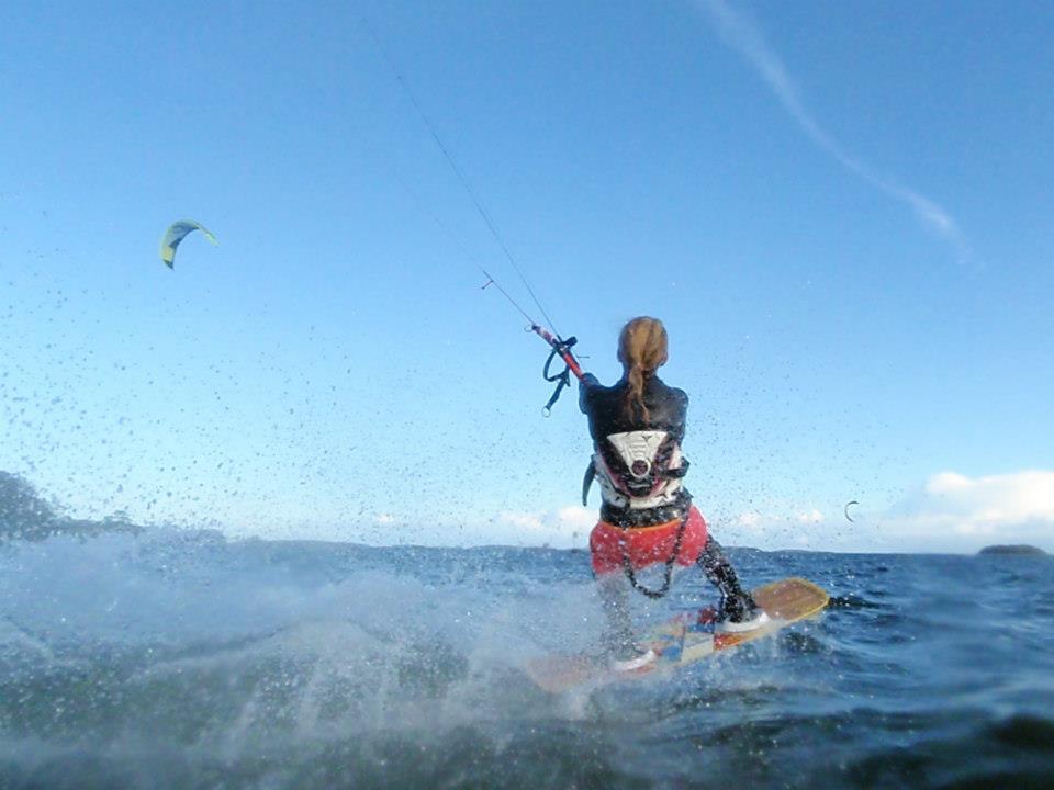 Kitesurfing helgen lång