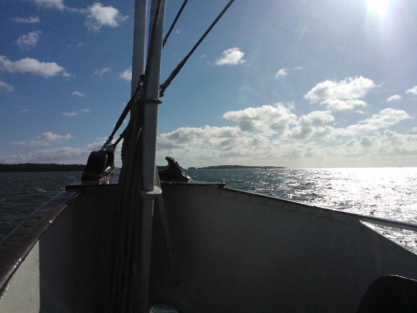 Rolig arbetsdag till sjöss