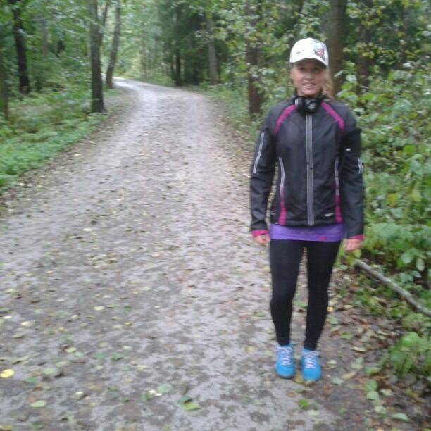 Löpning i höstregn
