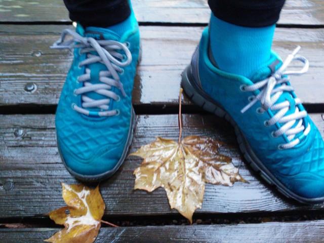 På fötterna hade jag mina sköna kompressionstrumpor och Nike Free fit i vintermodellen som är vattnetäta och passar utmärkt till höstlöpning.