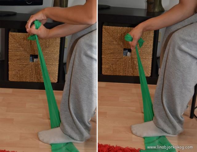 handledsflexion- träning för tennisarmbåge