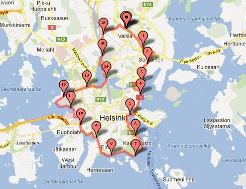 Löpning Helsingfors runt