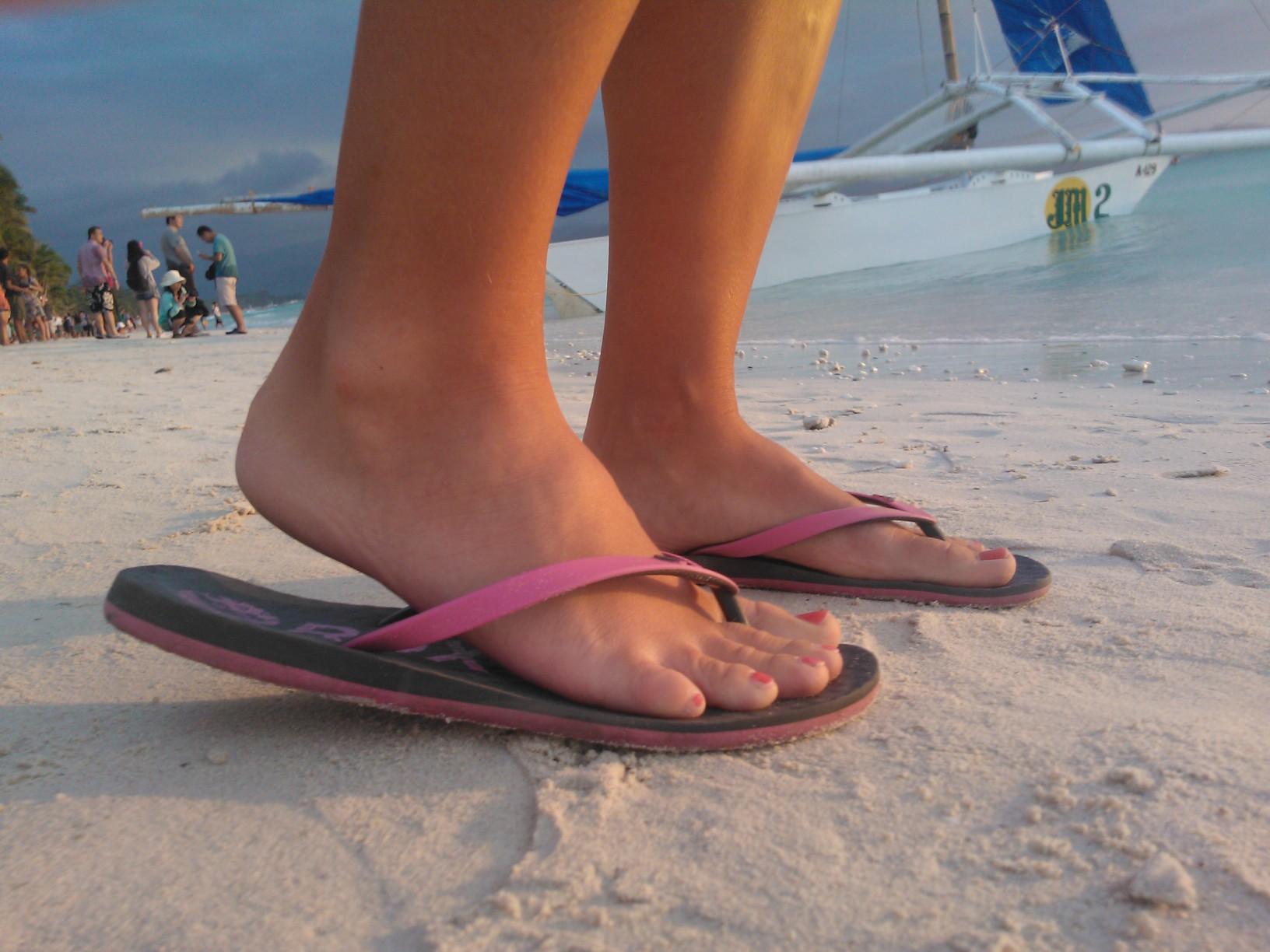 Flipflops på fötterna som vanligt