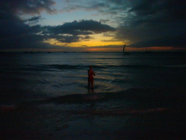 Dopp i havet efter löprundan