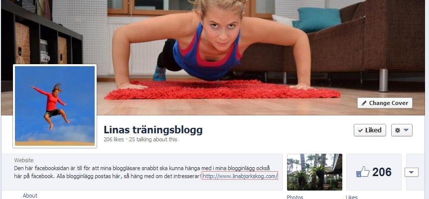 Linas träningsblogg på facebook