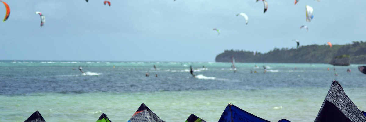 Mål med kitesurfingen i Boracay