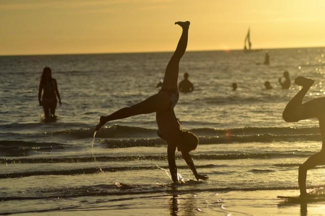 Solnedgången på White Beach tar andan ur vem som helst
