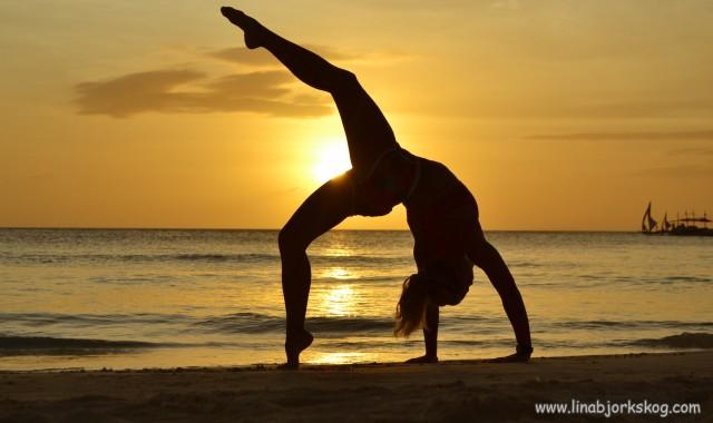 stretchning brygga siluett