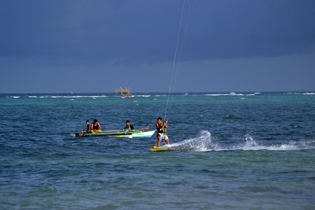 En fin och blåsig kitesurfinglördag