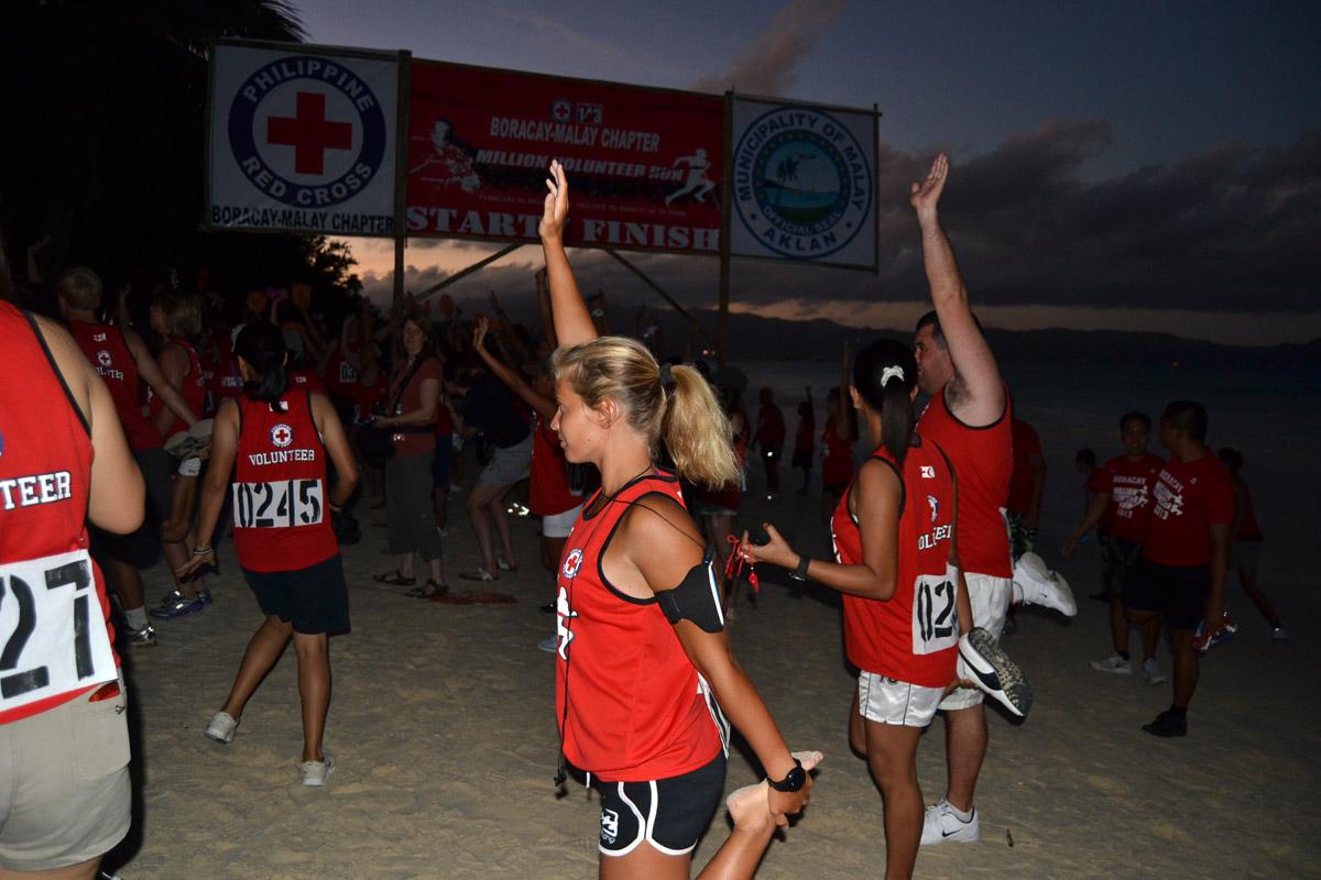 Million Volunteer Run på Boracay