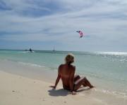 När man inte orkade kitesurfa kunde man alltid titta på när andra åkte