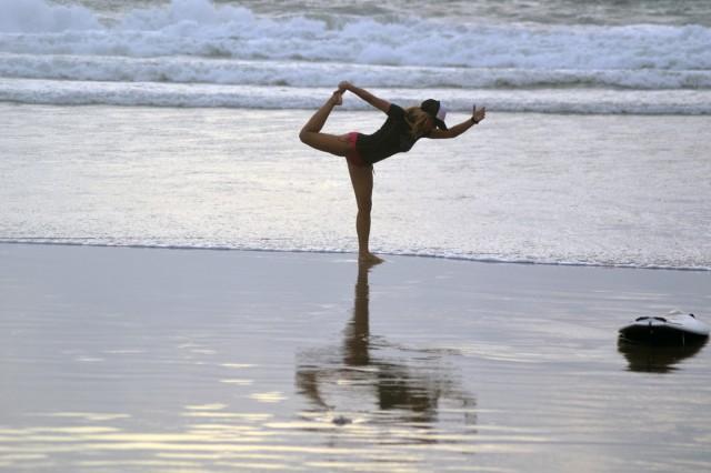 Höftböjare stretch yoga-style