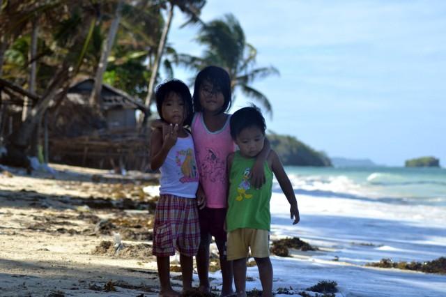 barn som bodde på stranden och ville ha picture