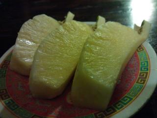 Ananas efter massagen